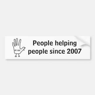 H.T.A.A., People helping people since 2007 Bumper Sticker
