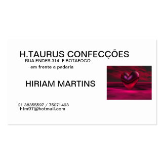 H.TAURUS CONFECTIONS Double-Sided STANDARD BUSINESS CARDS (Pack OF 100)