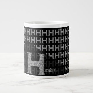 H - The Falck Alphabet (Silvery) Giant Coffee Mug