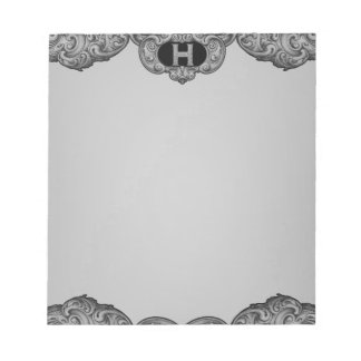 H - The Falck Alphabet (Silvery) Notepad