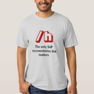 /h, The only SAP documentation that matters T Shirt