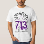 H TOWN RIDAZ CLOTHING -HOUSTON 713 PURP SHIRT SALE