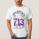 H TOWN RIDAZ CLOTHING -HOUSTON 713 PURP SHIRT SALE