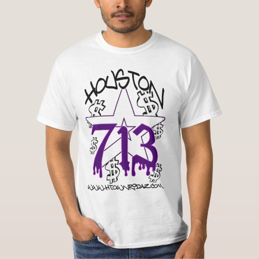 H town ridaz clothing houston 713 purp shirt sale zazzle for Custom t shirts houston