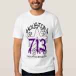 H TOWN RIDAZ CLOTHING - HOUSTON 713 PURP T-Shirt