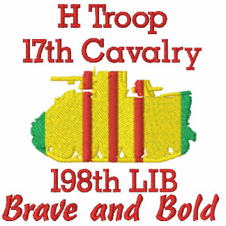 H Trp. 17th Cav 198th LIB M113 Track Polo Shirt