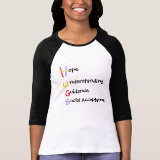 H.U.G.S. para el autismo 3/4 camisa con mangas