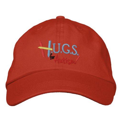 H.U.G.S. para el autismo gorra ajustable bordado Gorras Bordadas
