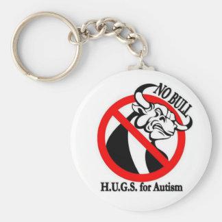 H.U.G.S. para el autismo Llavero Redondo Tipo Pin