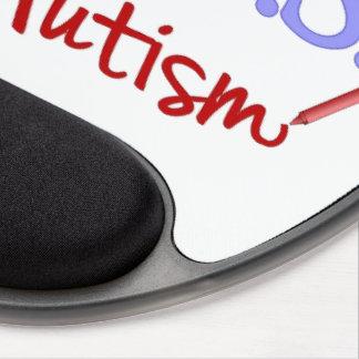 H.U.G.S. para el gel Mousepad del autismo Alfombrillas De Raton Con Gel