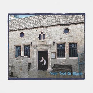 Ha-Ari Ashkenazi Shul - Tzfat Fleece Blanket