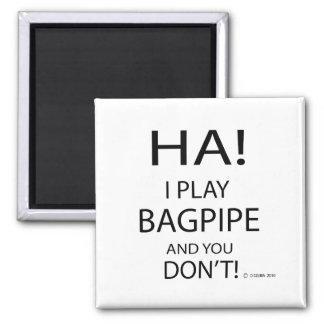 Ha Bagpipe 2 Inch Square Magnet