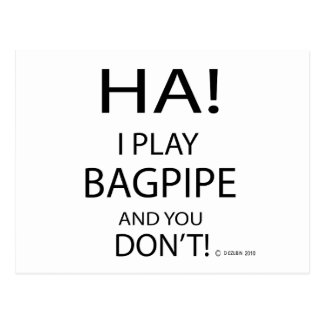Ha Bagpipe Postcard