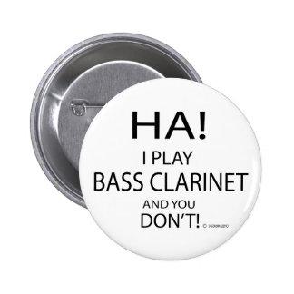 Ha Bass Clarinet Pinback Buttons