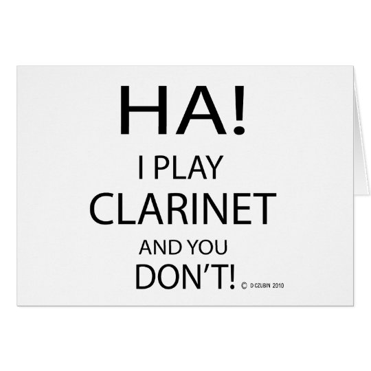 Ha Clarinet Card