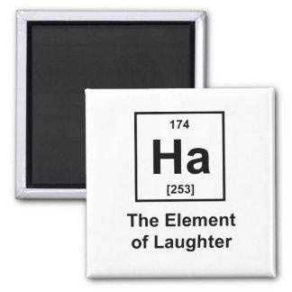 Ha, el elemento de la risa imán cuadrado