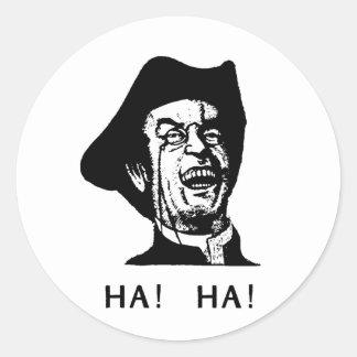 Ha Ha Guy Classic Round Sticker