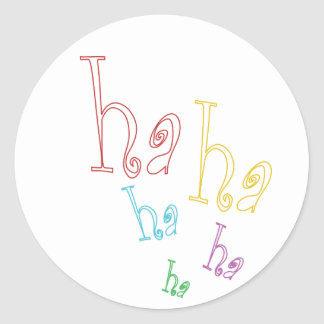 Ha ha ha! classic round sticker