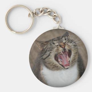 Ha Ha Ha Laughing Cat Keychain