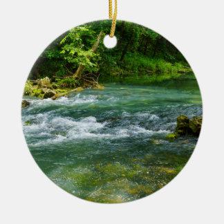 Ha Ha Tonka Rapids Ceramic Ornament