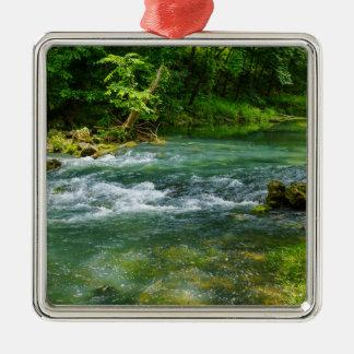 Ha Ha Tonka Rapids Metal Ornament