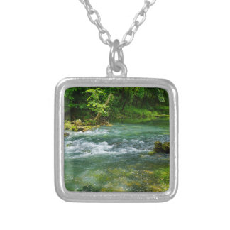 Ha Ha Tonka Rapids Silver Plated Necklace