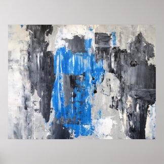 """""""Ha hecho"""" el poster azul y gris del arte"""