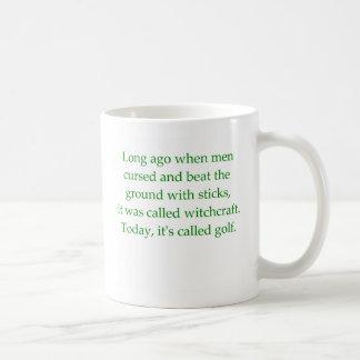 Ha llamado a Golf Mug Taza De Café
