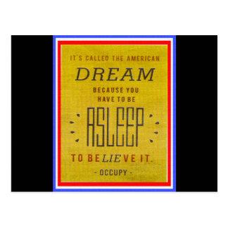 Ha llamado sueño americano ocupa Wall Street Tarjeta Postal