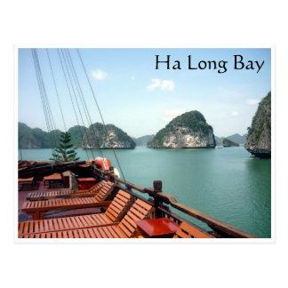 ha long bay boat postcard