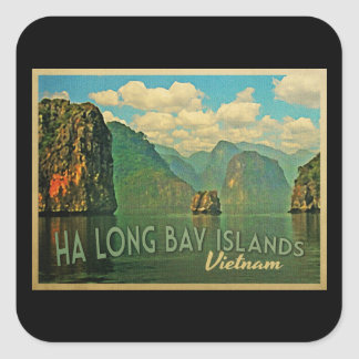 Ha Long Bay Islands Vietnam Square Sticker