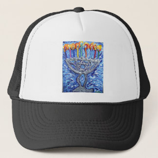 ha ppy hannukah art trucker hat