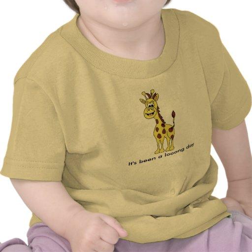 Ha sido un día del looong (la jirafa) camiseta