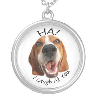 Ha! Silver Plated Necklace