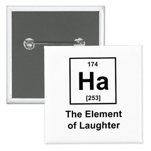Ha, The Element of Laughter 2 Inch Square Button