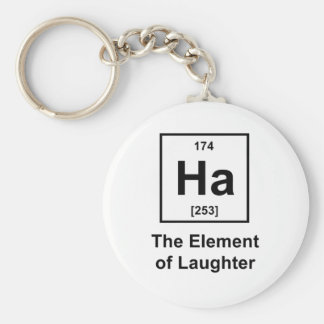 Ha, The Element of Laughter Basic Round Button Keychain