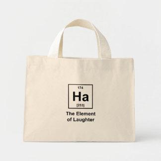 Ha, The Element of Laughter Mini Tote Bag