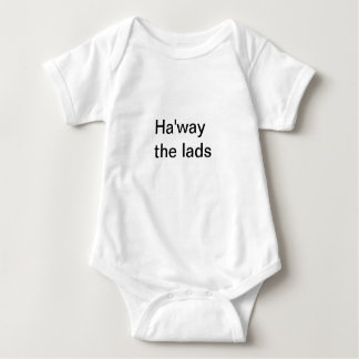 Ha'way the lads Words in Black Creeper/Babygro Baby Bodysuit