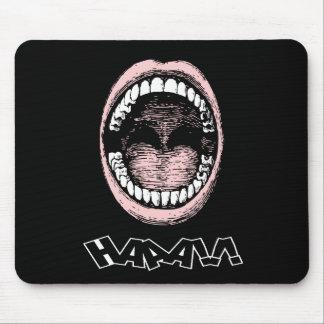 ¡Haaa Abra la boca ancha Mousepad Tapete De Ratones