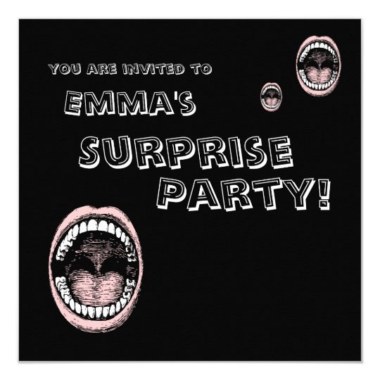 Haaa!!! Open Wide Mouth Surprise Party Invitation