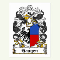 Haagen Family Crest Postcard