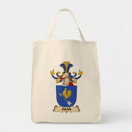 Haan Family Crest Canvas Bags
