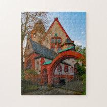 Haardt Corner House Darmstadt Hesse Germany. Jigsaw Puzzle