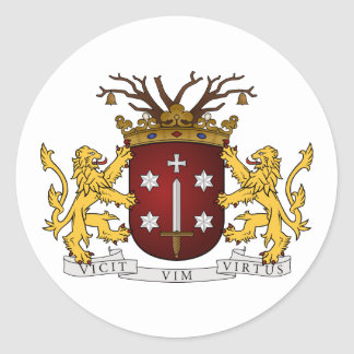Haarlem wapen, Netherlands Classic Round Sticker