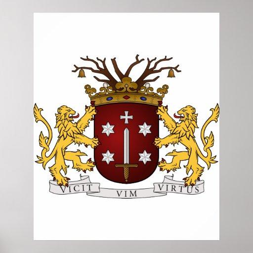 Haarlem wapen, Países Bajos Póster