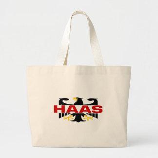 Haas Surname Canvas Bags