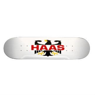 Haas Surname Skate Deck