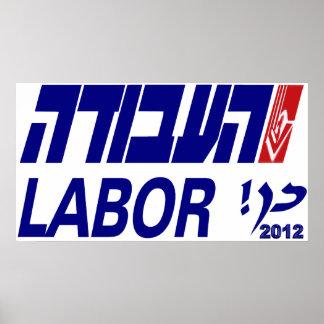 HaAvodah el partido laborista de Israel Posters