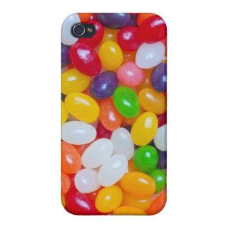 Haba de jalea - plantilla del fondo de los Jellybe iPhone 4 Cárcasas