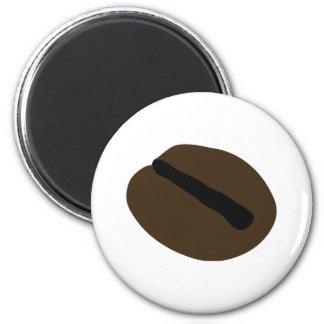 haba marrón del café sólo imán redondo 5 cm